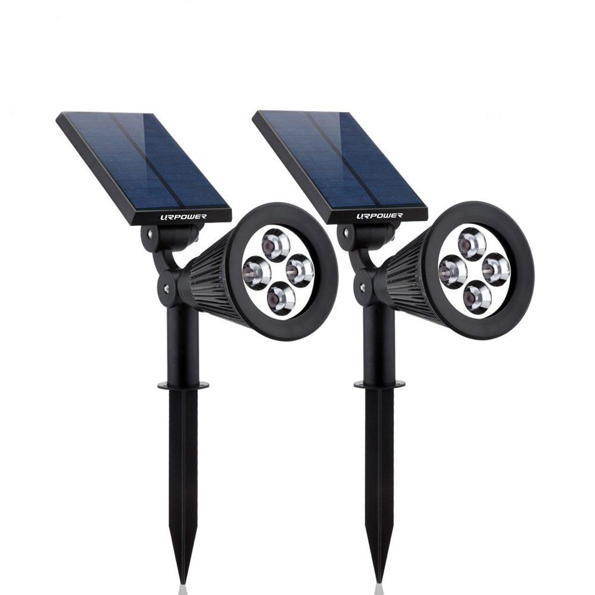 URPOWER 2-in-1 Waterproof 4 LED Solar Spotlight