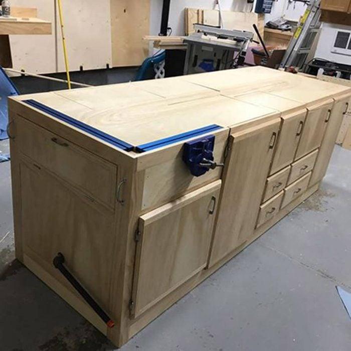 mobile flip-top workbench