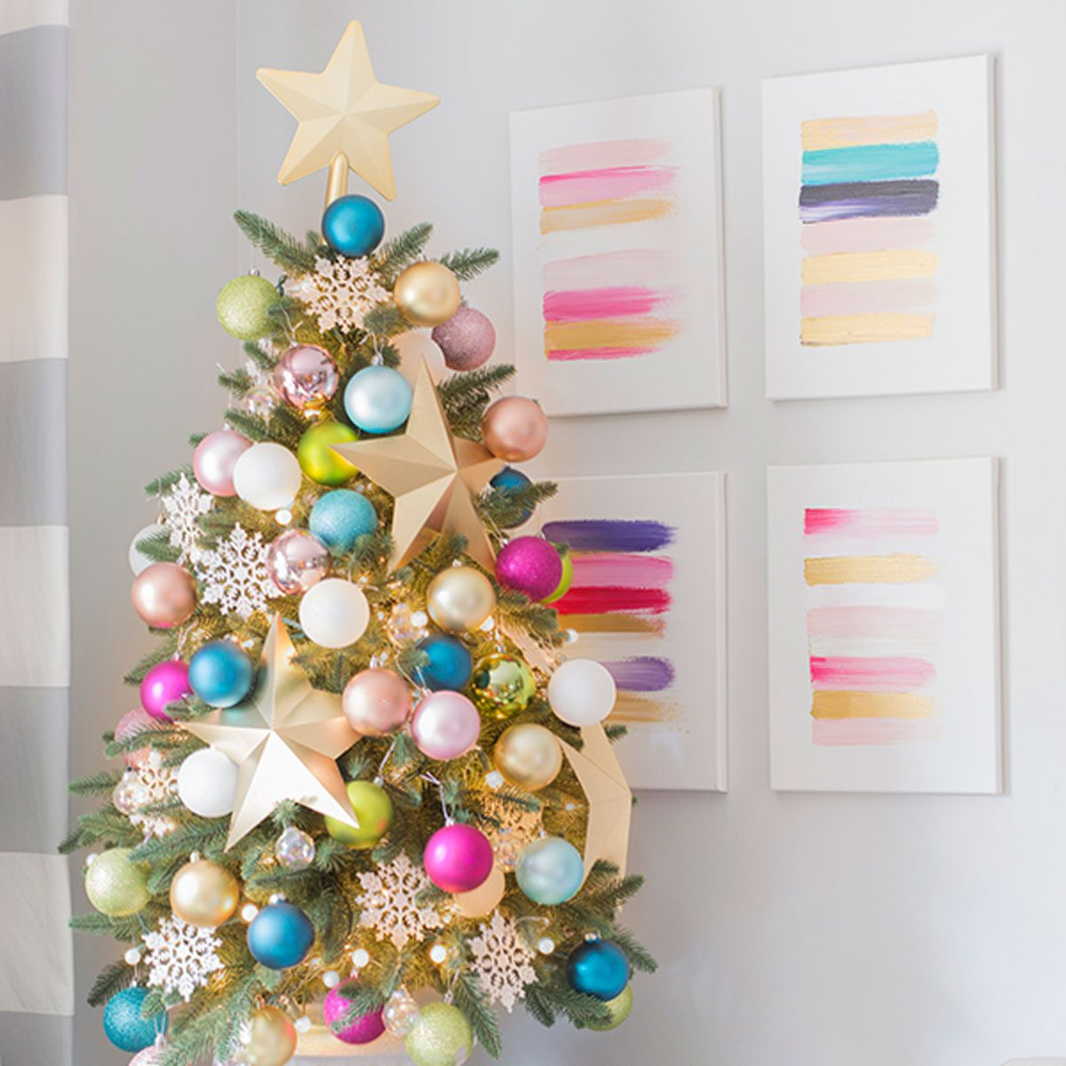 Christmas Tree Decorating Ideas: Pastel Power