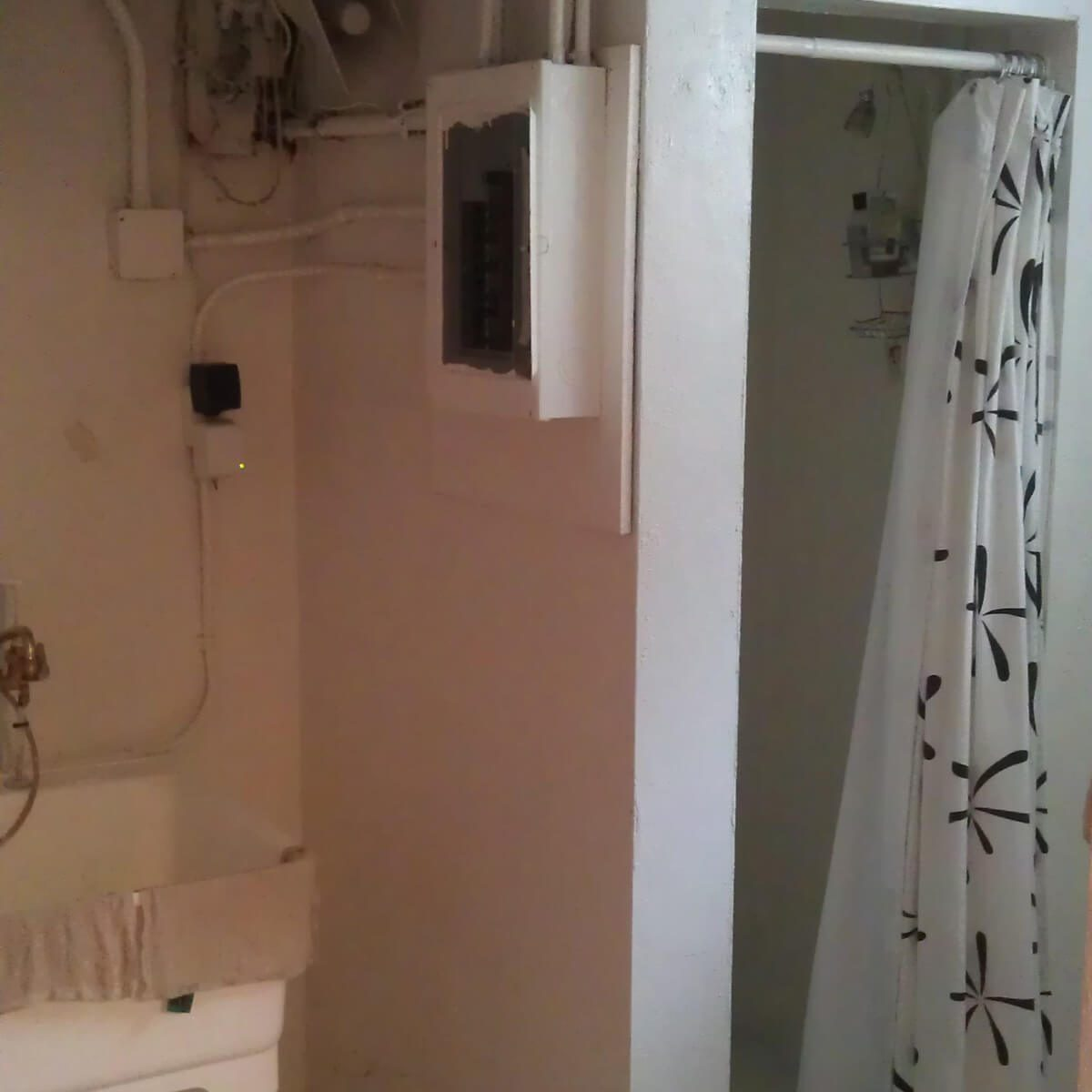 Service panel/shower combo