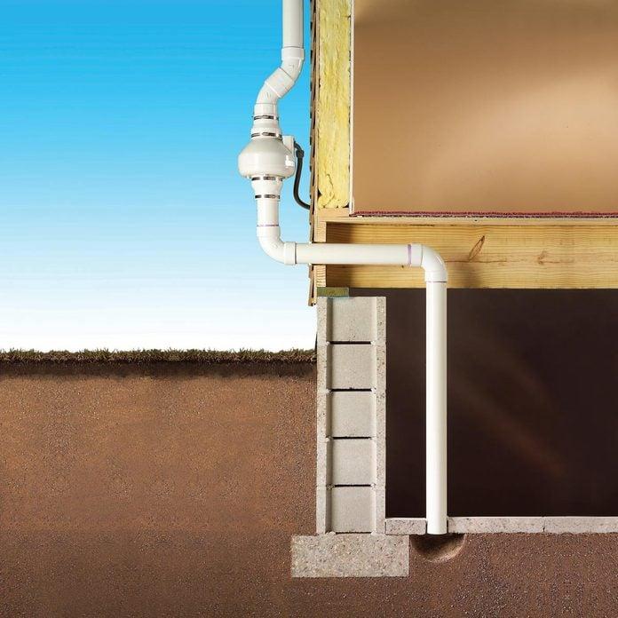 radon reduction system