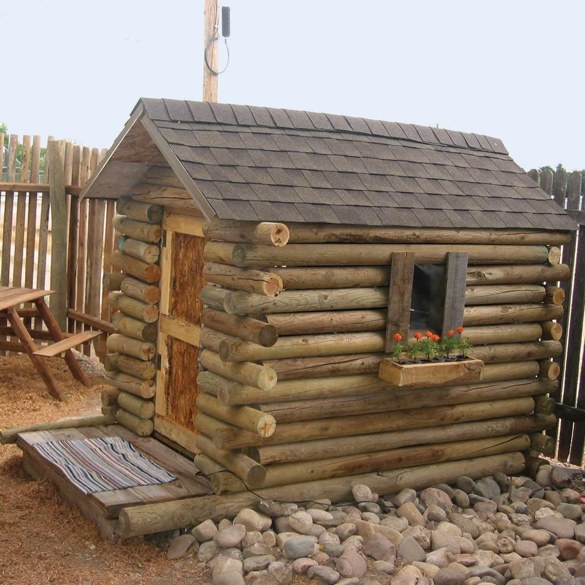 Reader Project Five Dollar Log Cabin Playhouse The Family Handyman