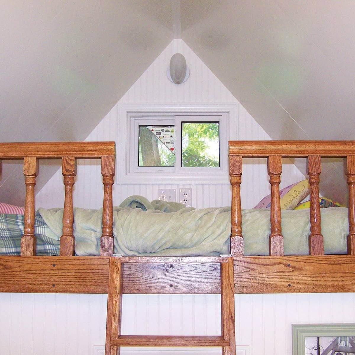 Interior playhouse loft