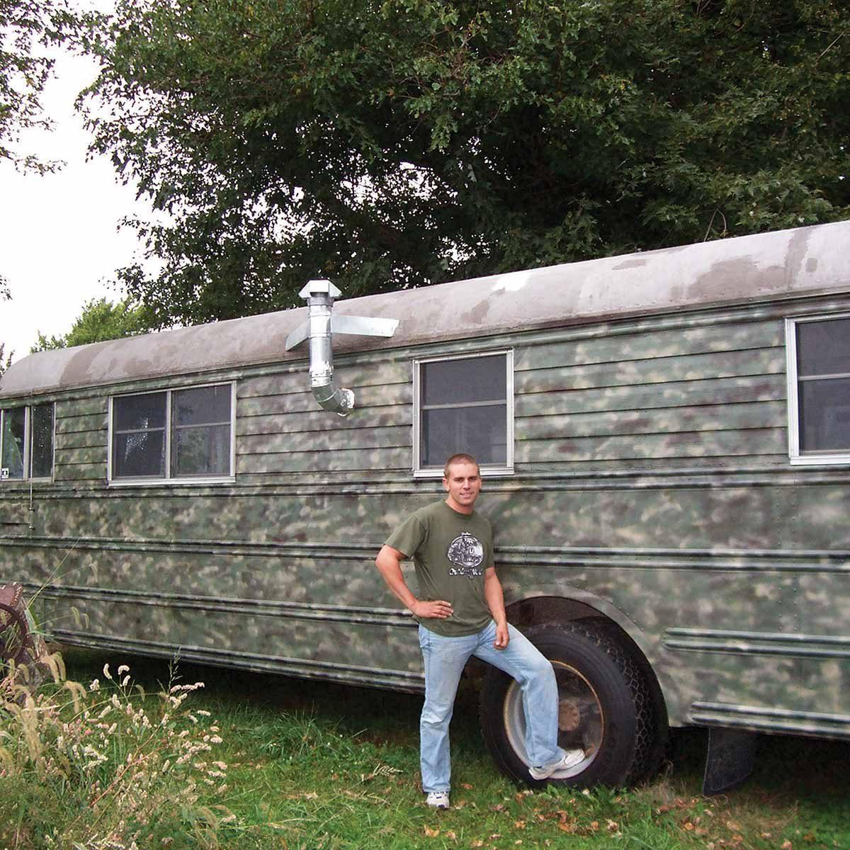 School bus to cabin on wheels