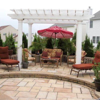 backyard patio and pergola