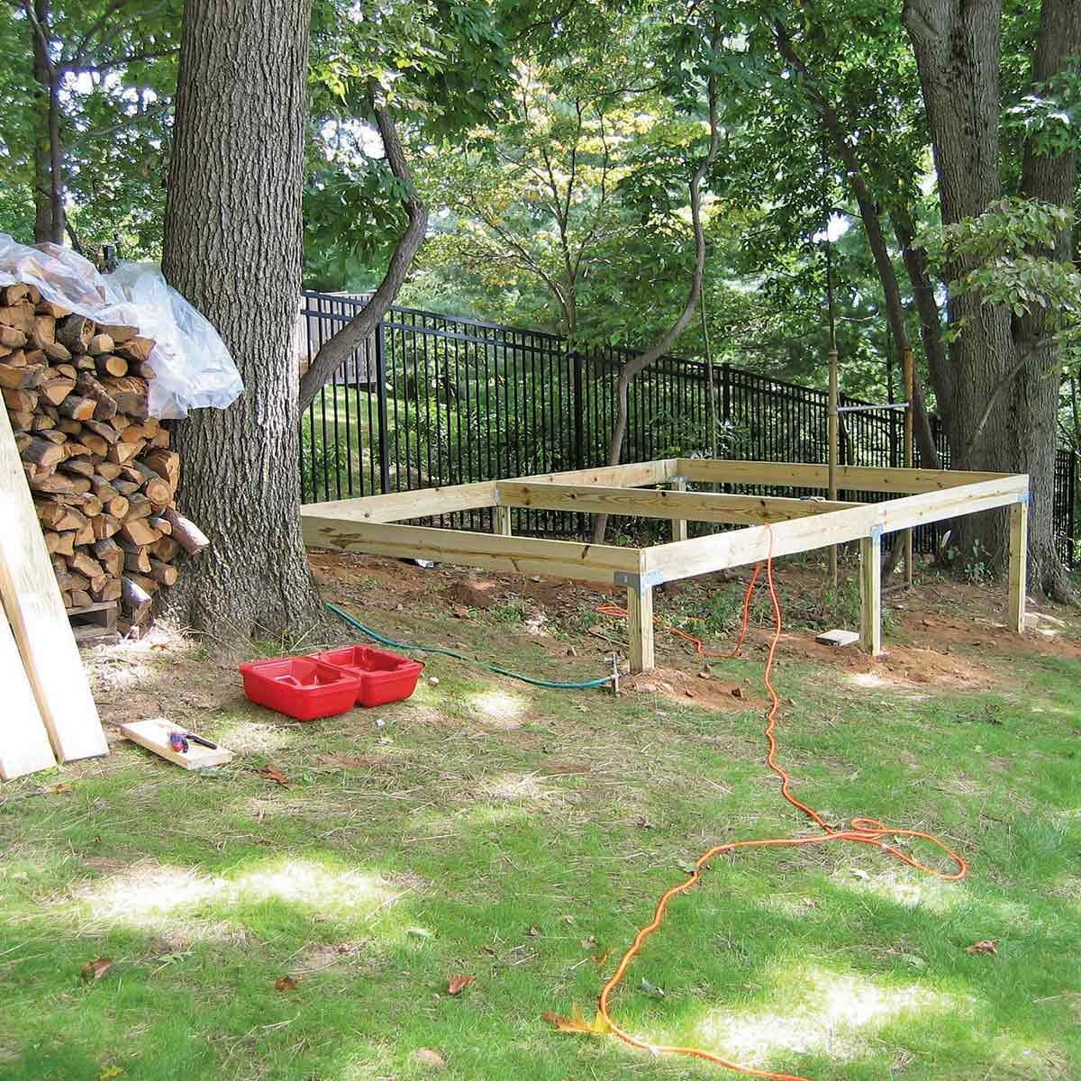 platform deck for shed