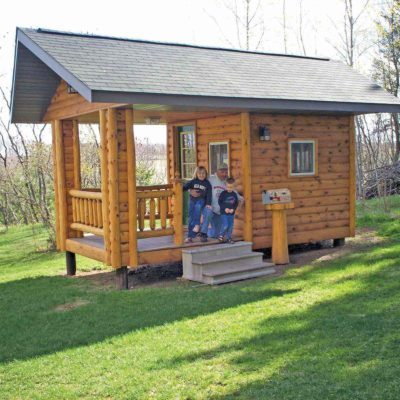 log siding playhouse