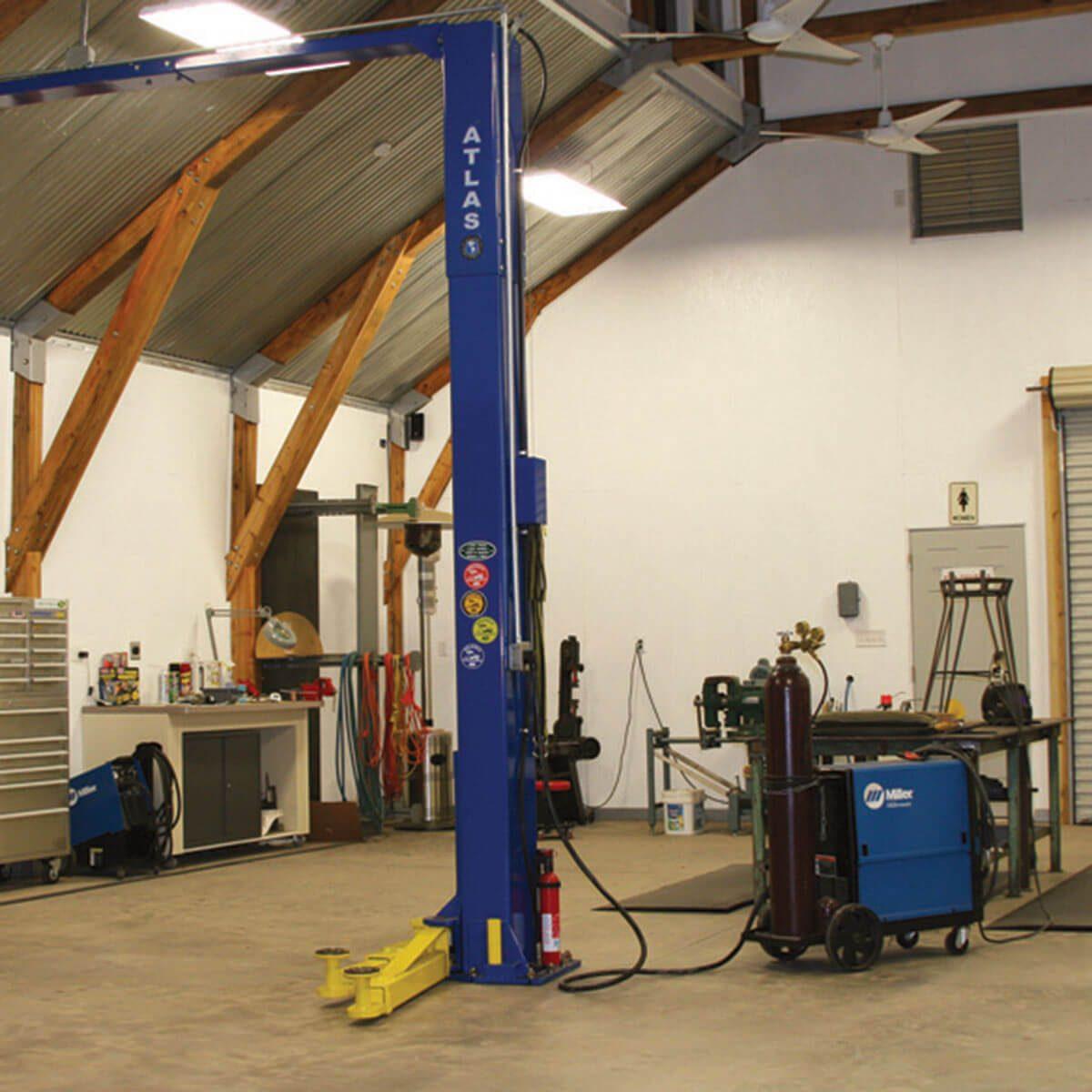 Timber Frame Shop Interior