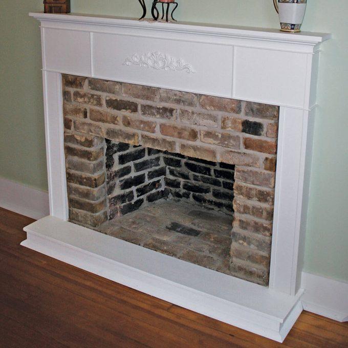 Hidden fireplace restored