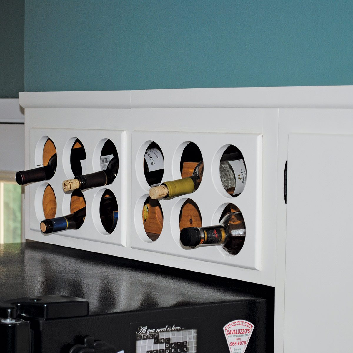 Above-Cabinet Wine Rack
