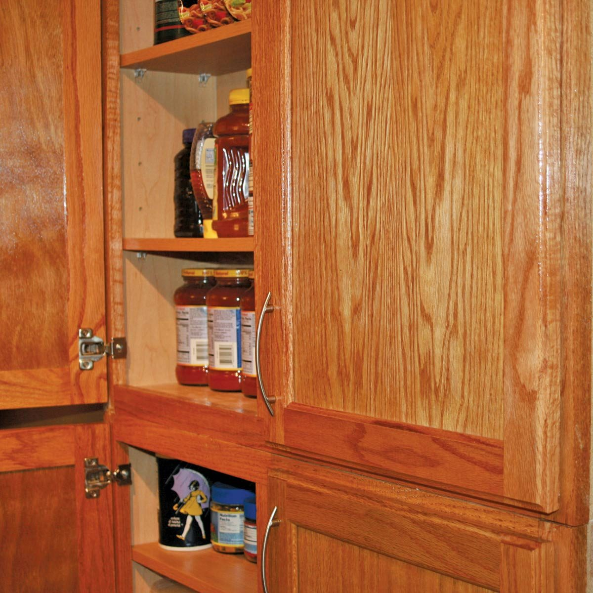 Inside Shallow Wall Kitchen Cabinet