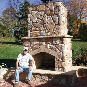 Reader Project: Backyard Stone Fireplace
