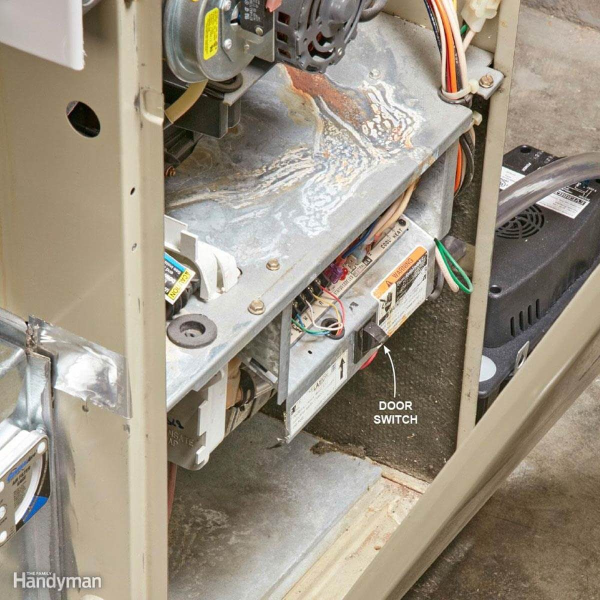 Furnace door switch