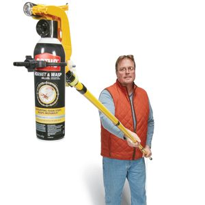 Spray can extension pole