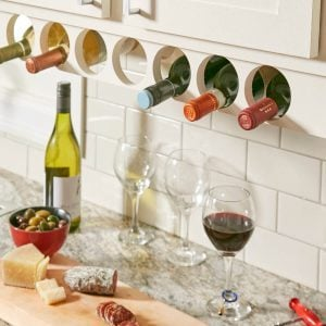 Space-Saving Kitchen Cabinet Wine Rack Project