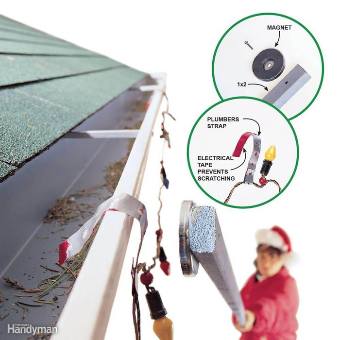 Hang Lights from Gutters