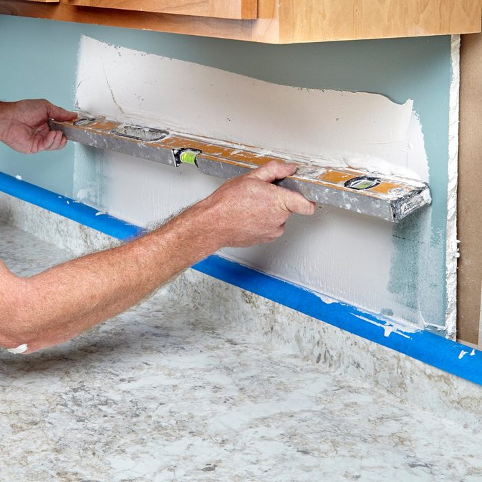 flatten walls and make sure they are level   Construction Pro Tip