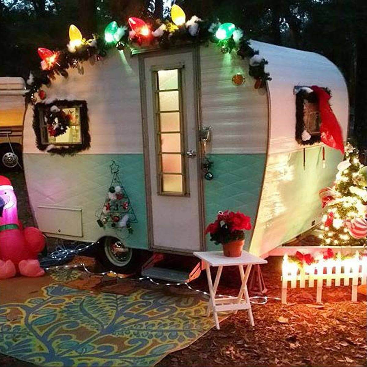 go big outside - Camper Christmas Decorations