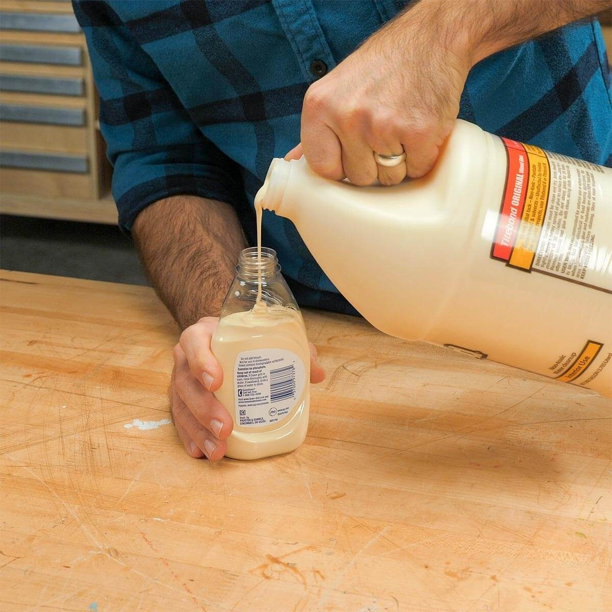 Dish Soap Glue Bottle