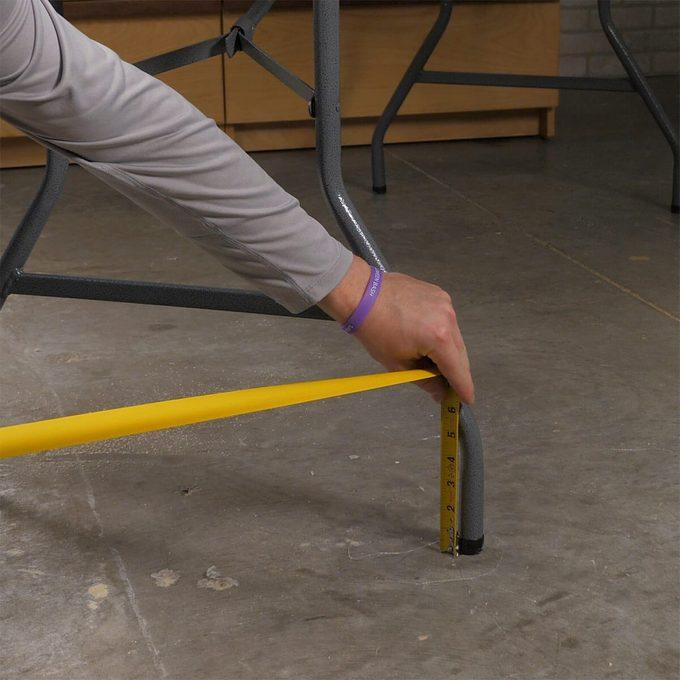 measuring table legs