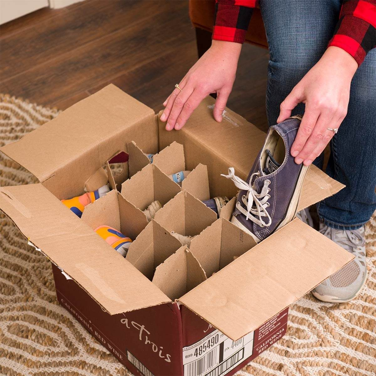 Wine Box Shoe Storage