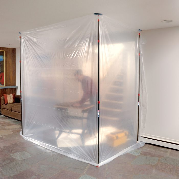 Isolation Chamber for drilling and cutting without spreading dust | Construction Pro Tips