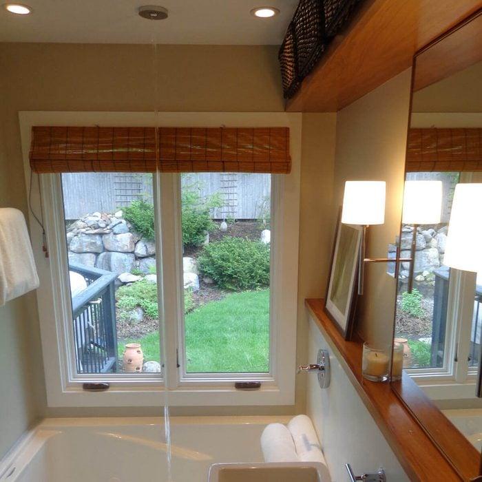 Overhead tub spout