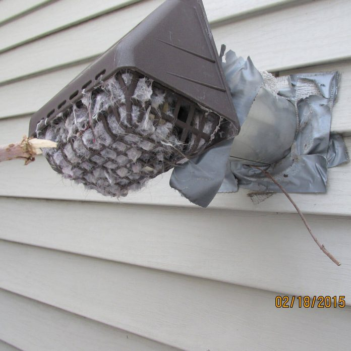 Plugged-dryer-duct
