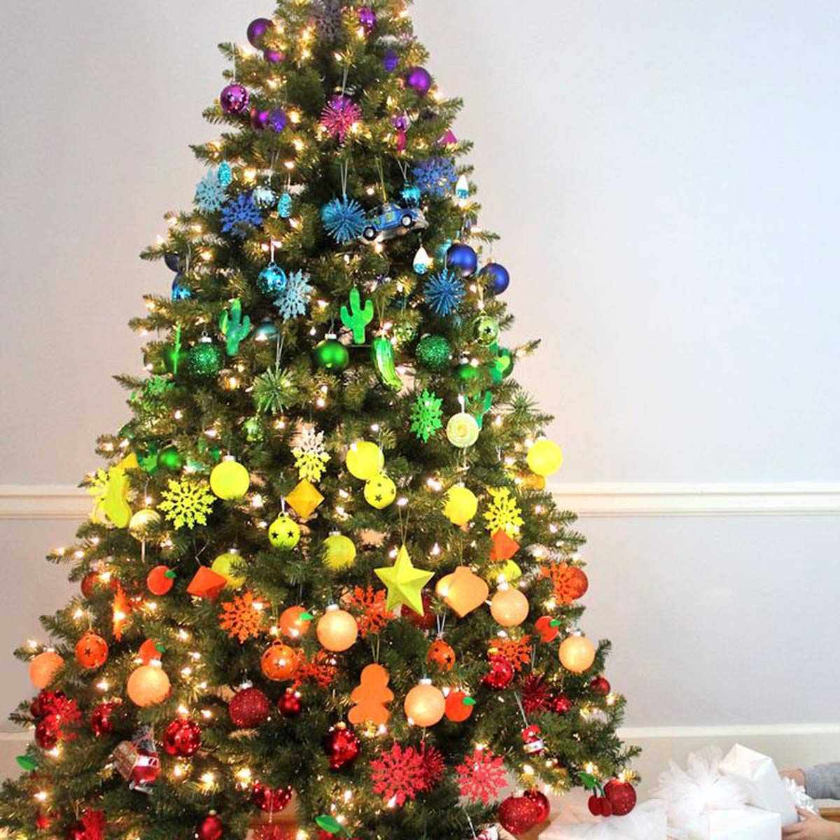 Rainbow Christmas Trees: 100 Incredible Christmas Tree Decorating Ideas