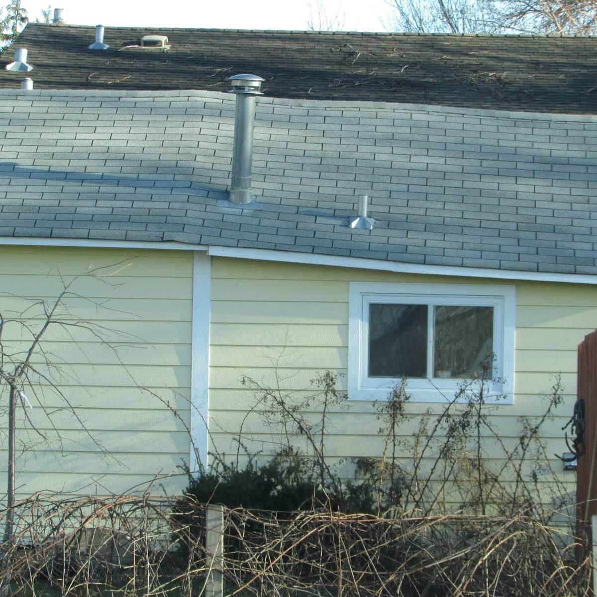 Brokeback roof