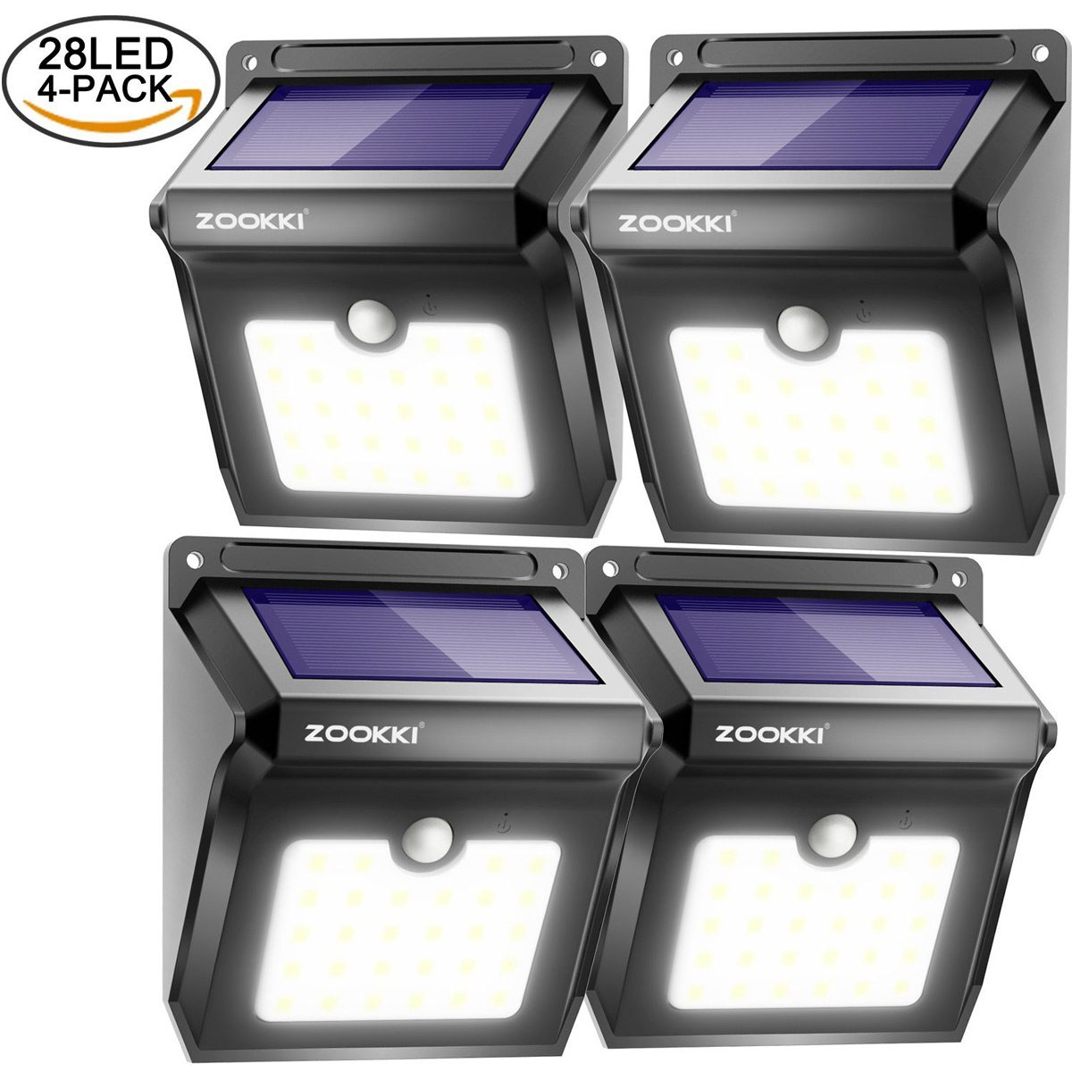 Zookki LED Wireless Solar Motion Sensor Lights