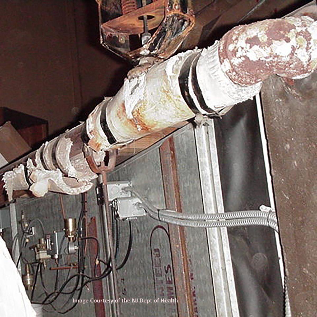 asbestos pipe wrap