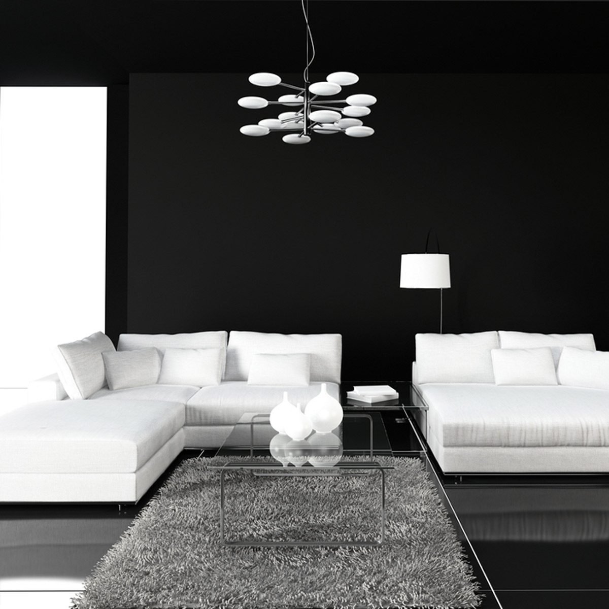 Living Room Wall Color Ideas: Black