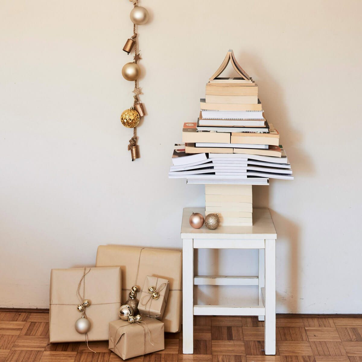 Christmas Tree Alternatives: Book Tree