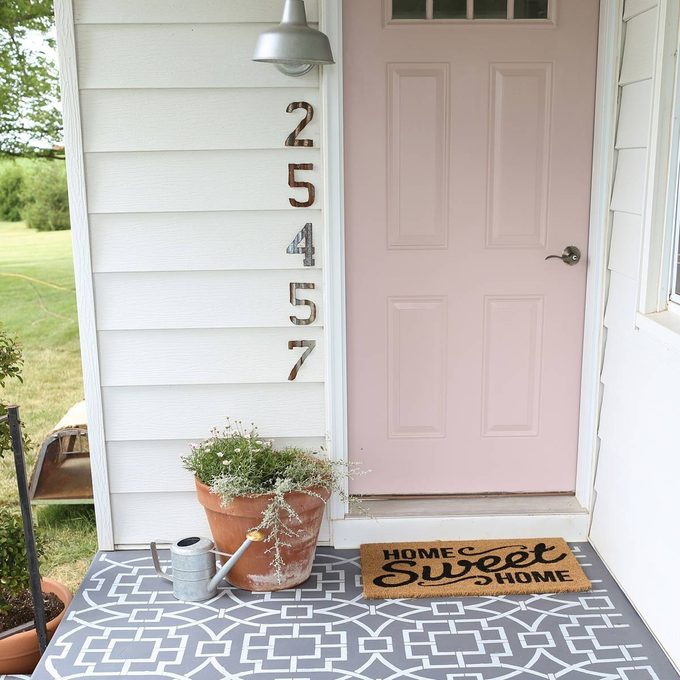 cement-tile2-1-of-1 painted porch floor pink front door