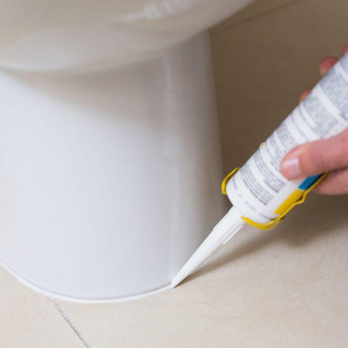 caulk around a toilet