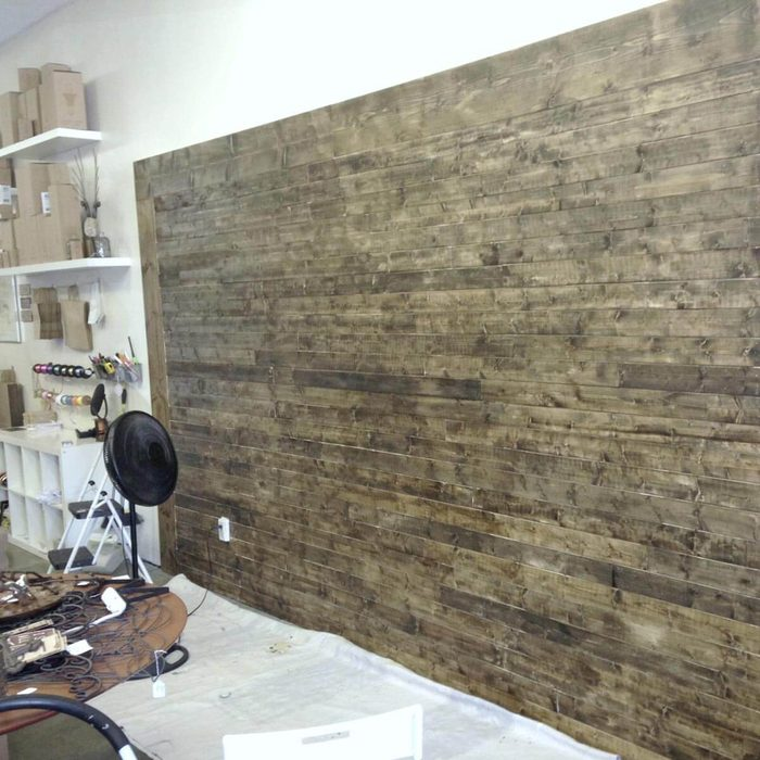 Stained/Distressed Shiplap Boards