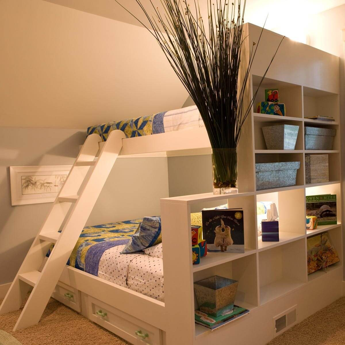 Bunk Beds With Shelves Storage Rollouts