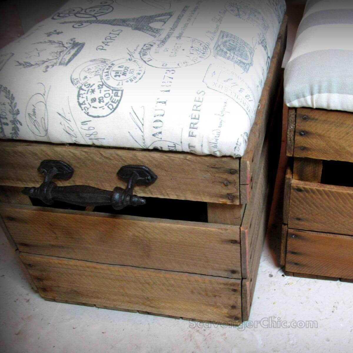 Fruit Crate Ottomans