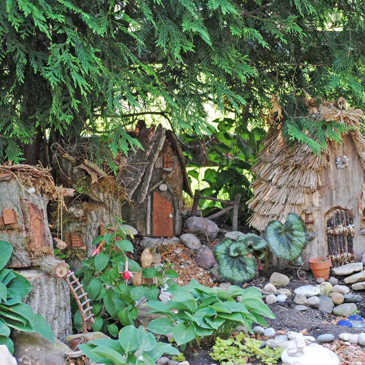 Hut Village Fairy Garden