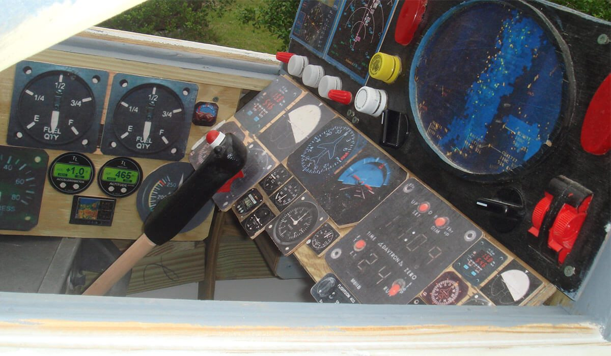 front controls of f-14 play set