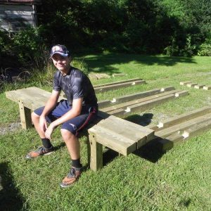 Reader Project: Eagle Scouts Build Playground Park Benches