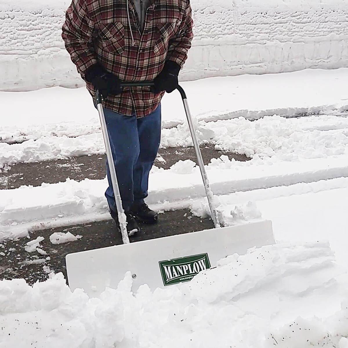 manplowhandplow snow plow tool driveway