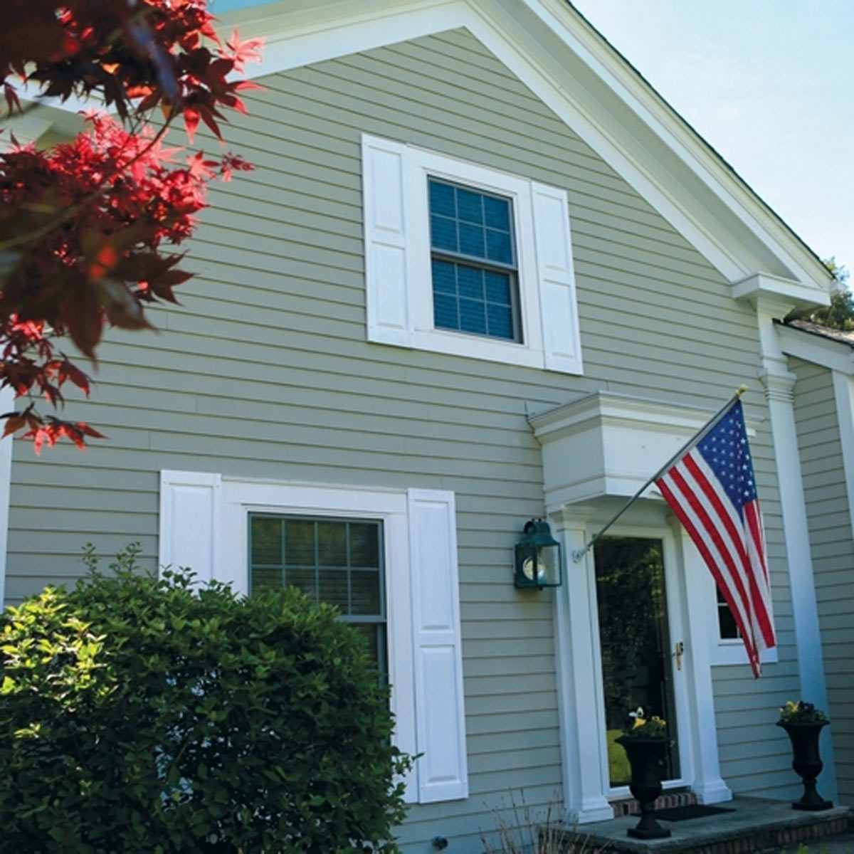 15 house painting ideas that improve curb appeal the - Best spray paint for exterior shutters ...