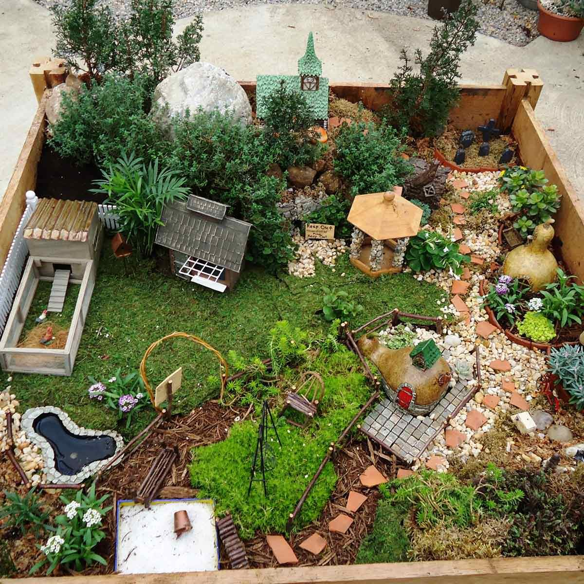 Raised Bed Fairy Garden