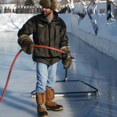 resurfacer backyard ice rink
