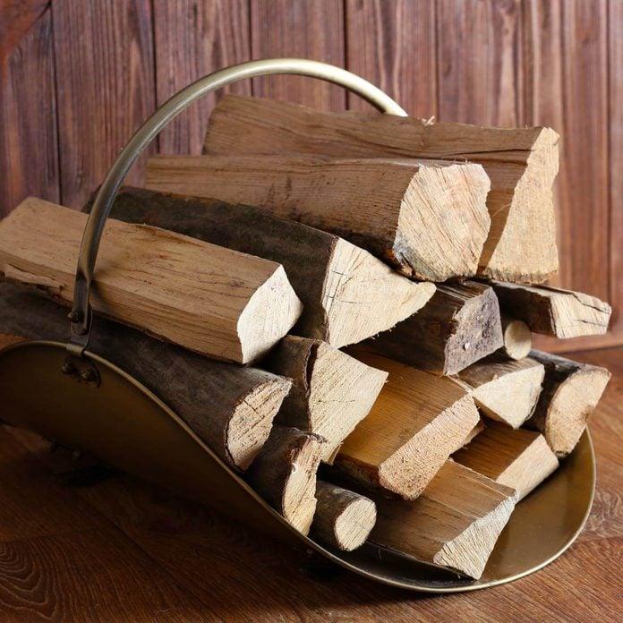 firewood in a basket