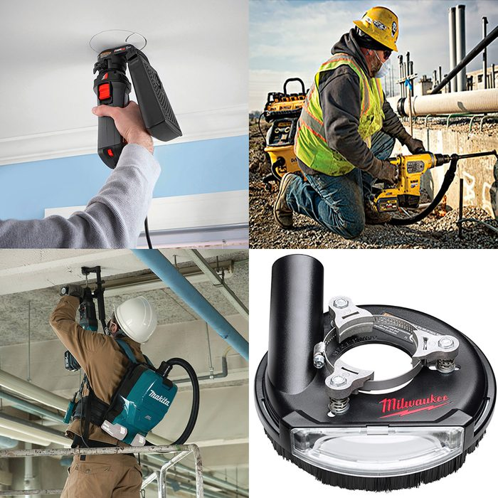 An assortment of tools for dust control | Construction Pro Tips