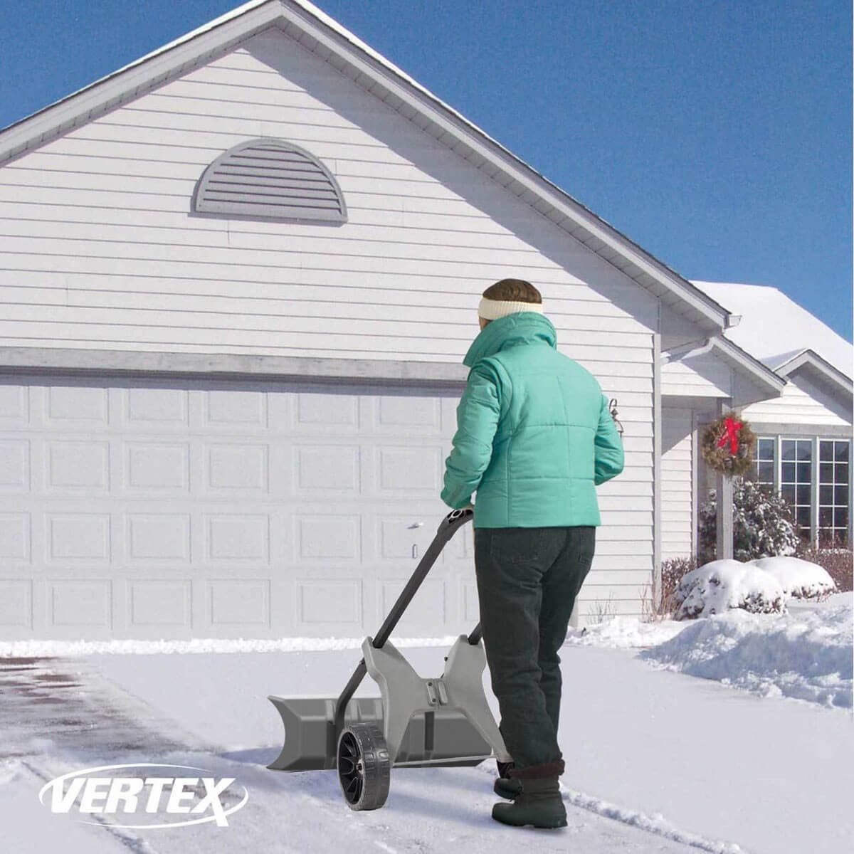 vertex snow pusher snow removal tool