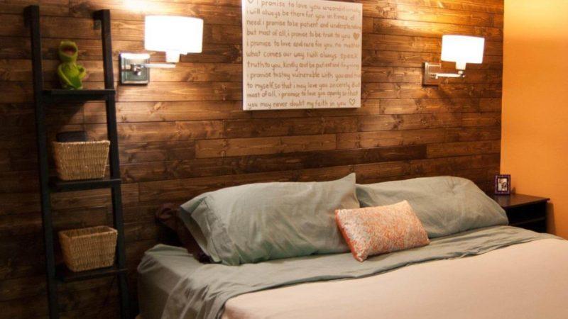 wallmountedlights_04 bedroom shiplap wall